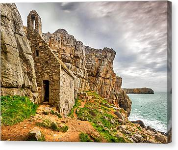 St Govans Chapel Canvas Print by Mark Llewellyn