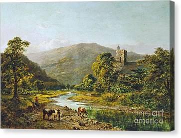 St. Grwst Church Llanrwst On The Conwy Canvas Print by MotionAge Designs