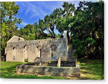 St. Helena Island Chapel Of Ease Bluffton Sc Canvas Print by Lisa Wooten