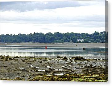 St Helens Beach To Bembridge Point Canvas Print by Rod Johnson