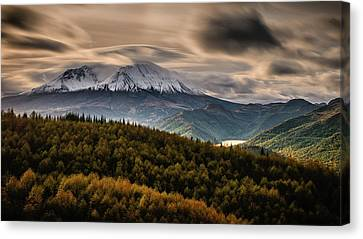 Canvas Print featuring the photograph St. Helens Wrath by Dan Mihai