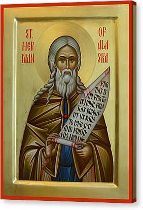 St. Herman Of Alaska Canvas Print by Daniel Neculae