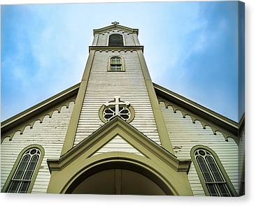 Canvas Print featuring the photograph St. Ignatius Of Loyola Church And Cemetary by Onyonet  Photo Studios