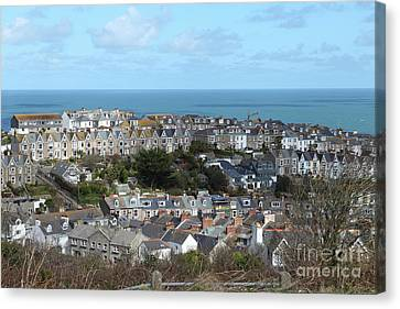 Canvas Print featuring the photograph St Ives, Cornwall, Uk by Nicholas Burningham