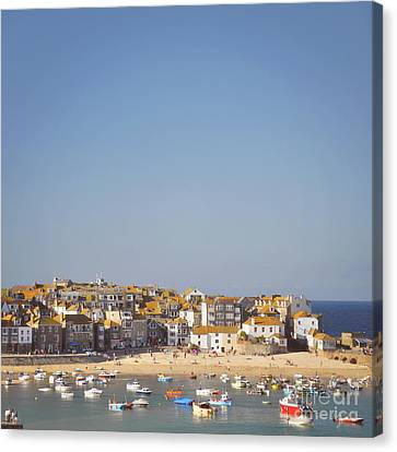 Canvas Print featuring the photograph St Ives Harbour by Lyn Randle