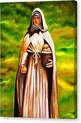 St Jeanne Jugan Of France Canvas Print by Xafira Mendonsa
