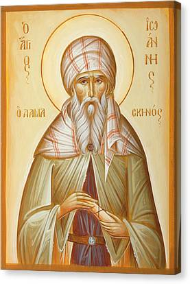 St John Of Damascus Canvas Print by Julia Bridget Hayes