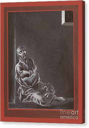 Canvas Print featuring the painting  St John Of The Cross In The Dark Night Of The Soul 290 by William Hart McNichols