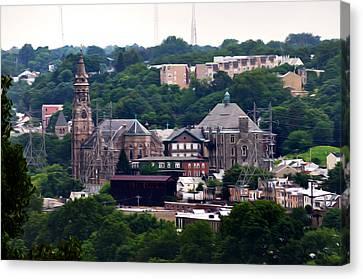 St John The Baptist Church Manayunk Philadelphia Canvas Print by Bill Cannon