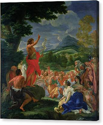 St John The Baptist Preaching Canvas Print