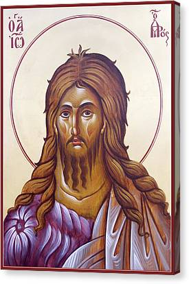 St John The Forerunner And Baptist Canvas Print by Julia Bridget Hayes