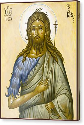 St John The Forerunner Canvas Print by Julia Bridget Hayes