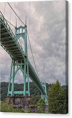 St. Johns Bridge Canvas Print by Loree Johnson