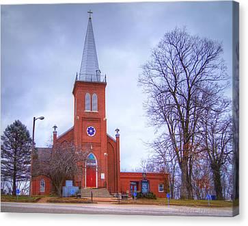 Schubert Canvas Print - St. John's Lutheran Church by Cricket Hackmann