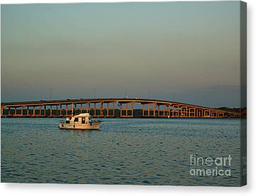 St. Johns River At Palatka Canvas Print by Kathi Shotwell