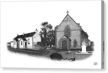 St. John's School And Chapel - Annaghmore Canvas Print