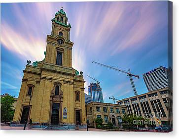 St. Johns The Evangelist Cathedral Canvas Print by Andrew Slater