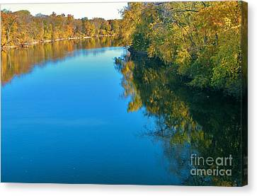 St. Joseph River View In Autumn     Indiana Canvas Print