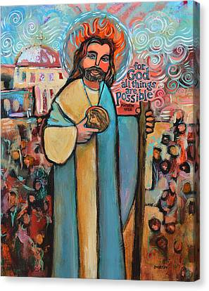 Saint Hope Canvas Print - St. Jude by Jen Norton
