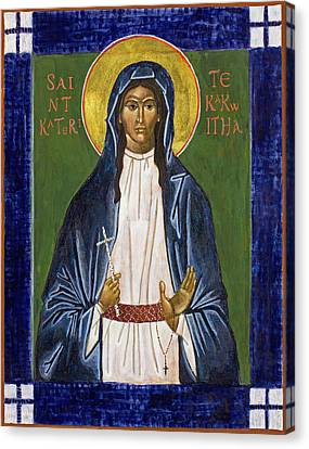 St. Kateri Tekakwitha Icon Canvas Print by Jennifer Richard-Morrow