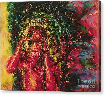 St. Lazarus - Bglaz Canvas Print by Fr Bob Gilroy SJ