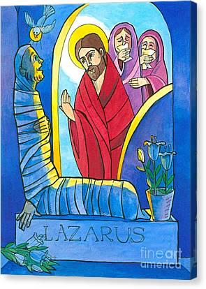 St Lazarus Canvas Print - St. Lazarus - Mmlzr by Br Mickey McGrath OSFS