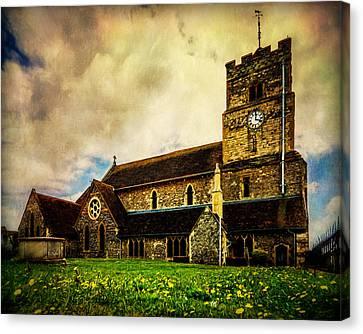 Seaford Canvas Print - St. Leonard's Church by Chris Lord