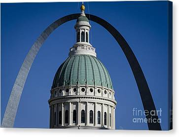 St. Louis Arch Canvas Print by Andrea Silies