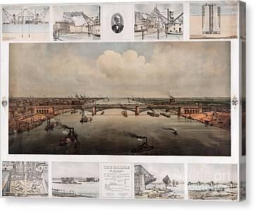 St Louis Bridge Canvas Print by Celestial Images