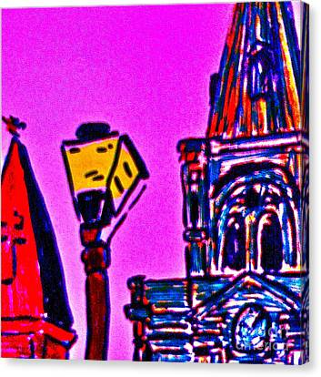 St. Louis Cathedral Abstract Canvas Print by John Giardina
