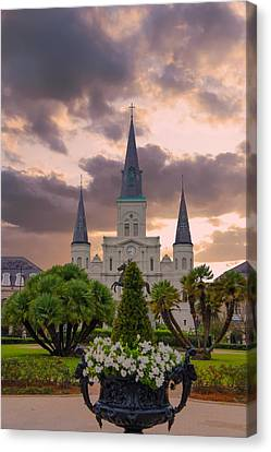 St Louis Cathedral, Jackson Square, New Orleans, Louisiana Canvas Print by Art Spectrum
