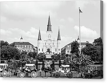 St. Louis Cathedral New Orleans  Canvas Print by Scott Pellegrin