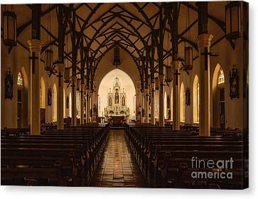 St. Louis Catholic Church Of Castroville Texas Canvas Print