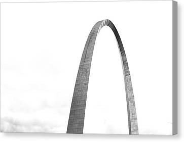Canvas Print featuring the photograph St. Louis Gateway Arch Bnw 9581 by David Haskett