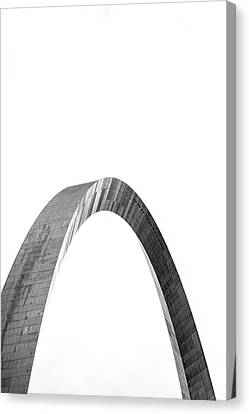 Canvas Print featuring the photograph St. Louis Gateway Arch Bnw 9585 by David Haskett