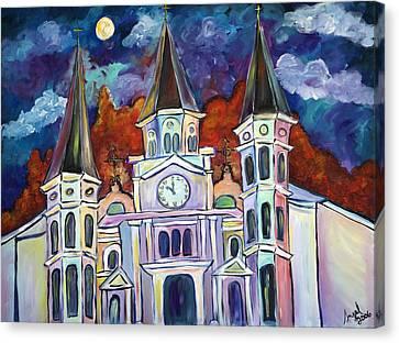 St. Louis Glowing Canvas Print by Angel Turner Dyke