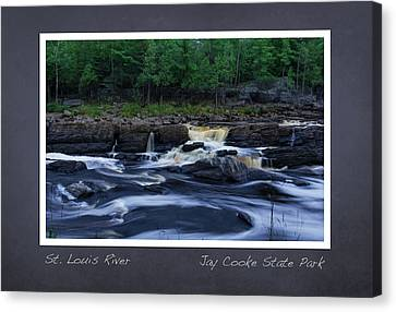 Canvas Print featuring the photograph St Louis River Scrapbook Page 1 by Heidi Hermes