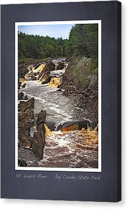 Canvas Print featuring the photograph St Louis River Scrapbook Page 3 by Heidi Hermes