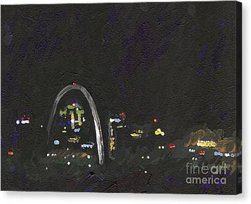 St. Louis Riverfront 2 Canvas Print by Helena M Langley