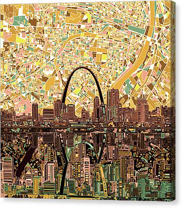 St Louis Skyline Abstract 11 Canvas Print
