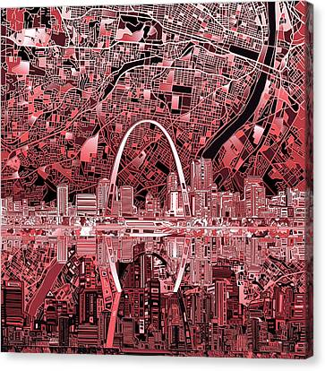 St Louis Skyline Abstract 3 Canvas Print