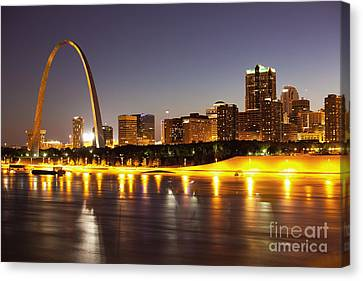 St Louis Skyline Canvas Print by Bryan Mullennix