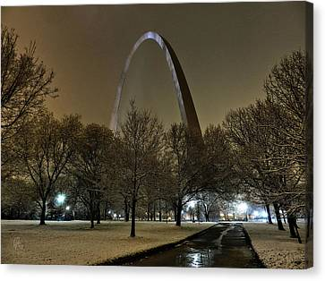 St. Louis - Winter At The Arch 002 Canvas Print by Lance Vaughn