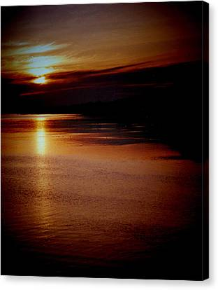 St Lucia Sunset Canvas Print by Russ Mullen