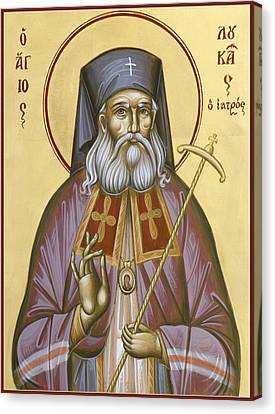 St Luke The Surgeon Of Simferopol Canvas Print by Julia Bridget Hayes