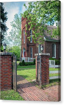 St Luke's Episcopal Church - Entrance Canvas Print by Brian Wallace