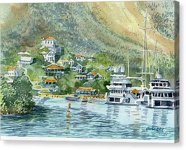 St. Maarten Cove Canvas Print