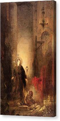 St Margaret Canvas Print by Gustave Moreau