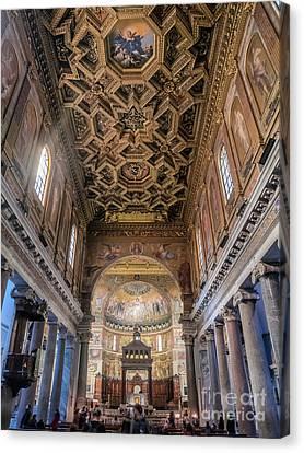 St Maria Basilica In Trastevere, Rome Canvas Print