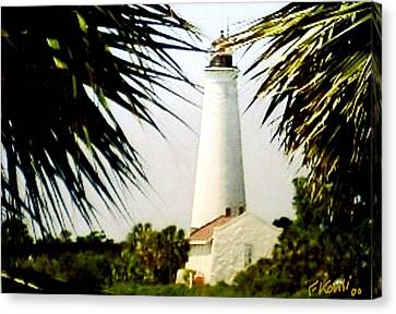 St Marks Lighthouse Canvas Print by Frederic Kohli